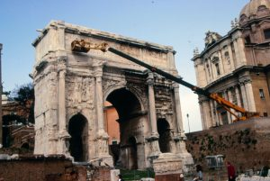 Arch Septimius, Rome / View with elevator2