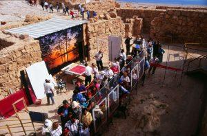 Masada / Public visiting the worksite