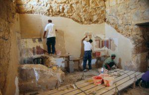 Masada / apodyterium during conservation