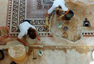 Masada, Isreal / Western Palace mosaics conservation