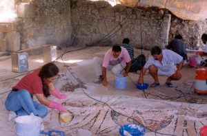 Side, Turkey / Mosaic conservation
